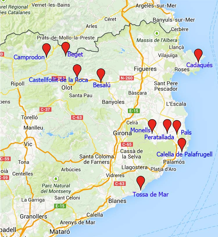 Costa Brava Espana Mapa.10 De Los Pueblos Mas Bonitos De Girona Mi Mundo Viajero